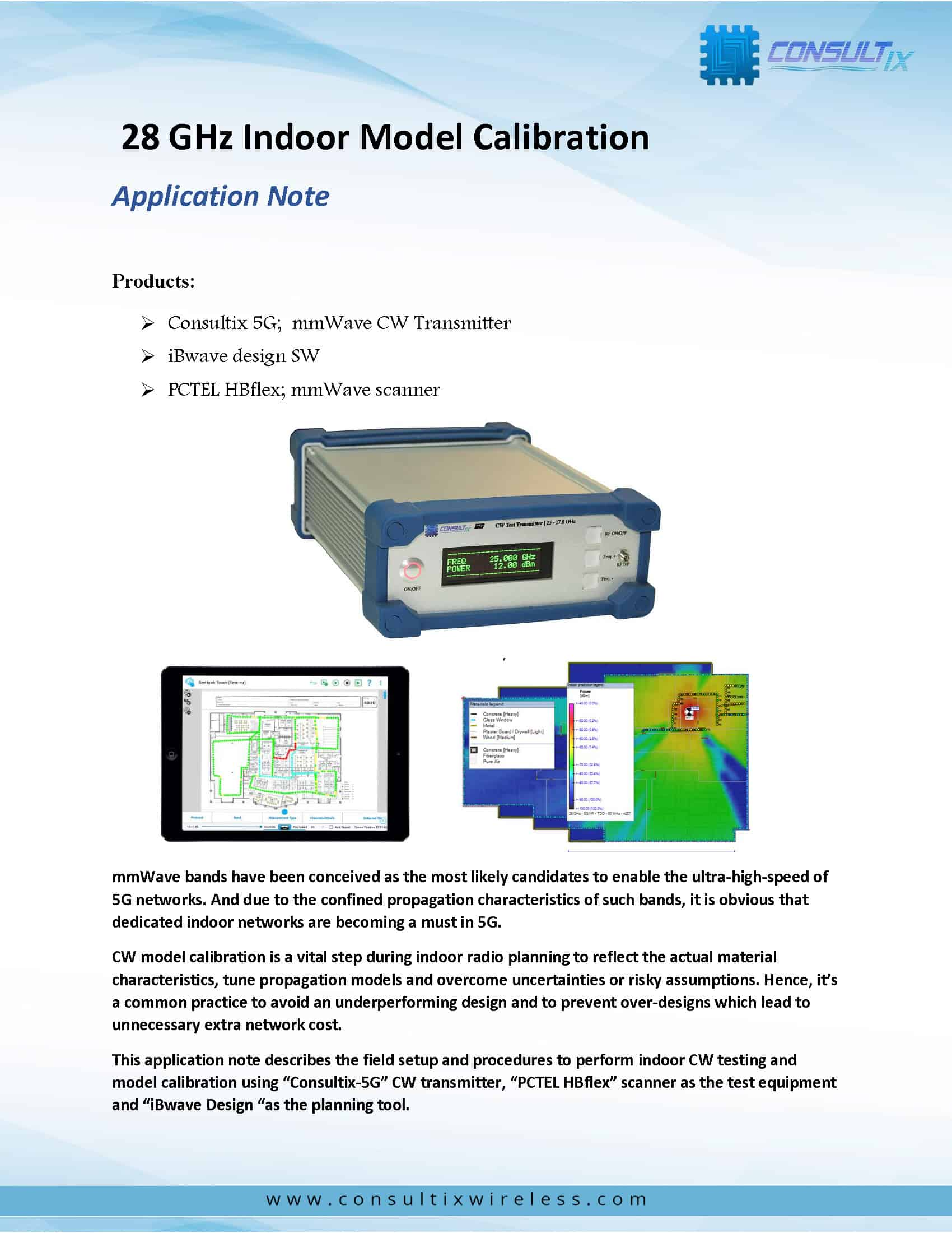 28-GHz-Indoor-Model-Calibration_Application-Note-2020 COVER
