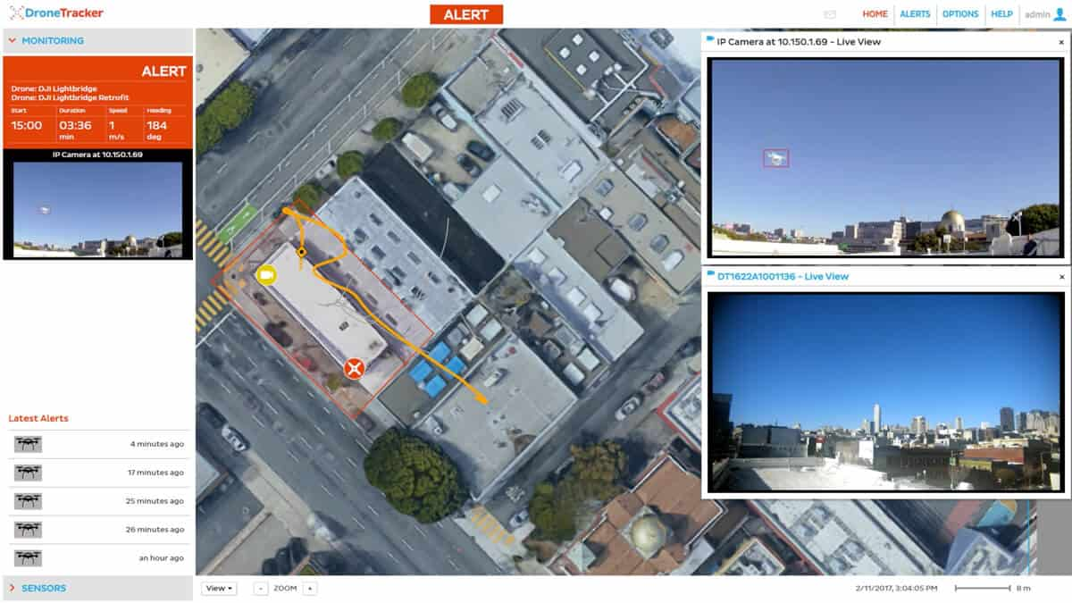 Dedrone Dronetracker software