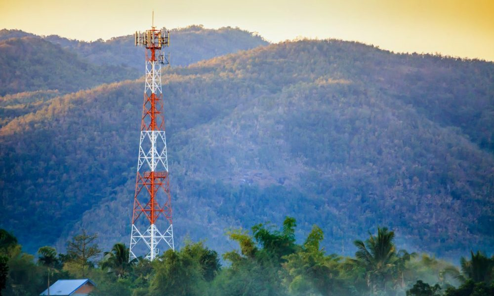 5G cell tower in the environment
