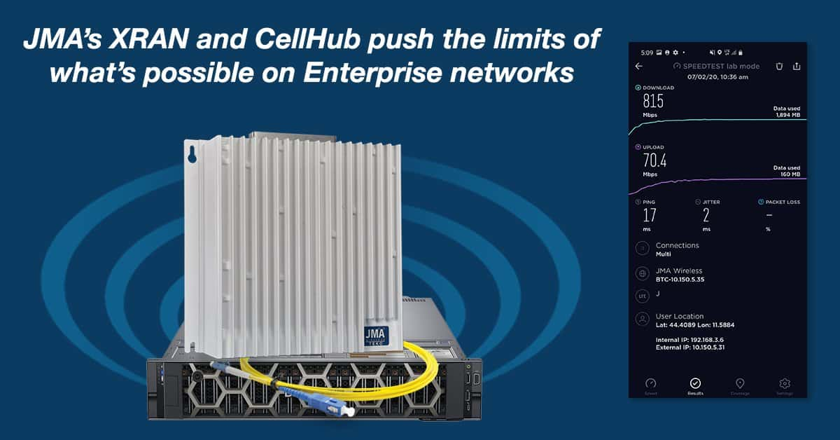 JMA XRAN CellHub Private Network solutions