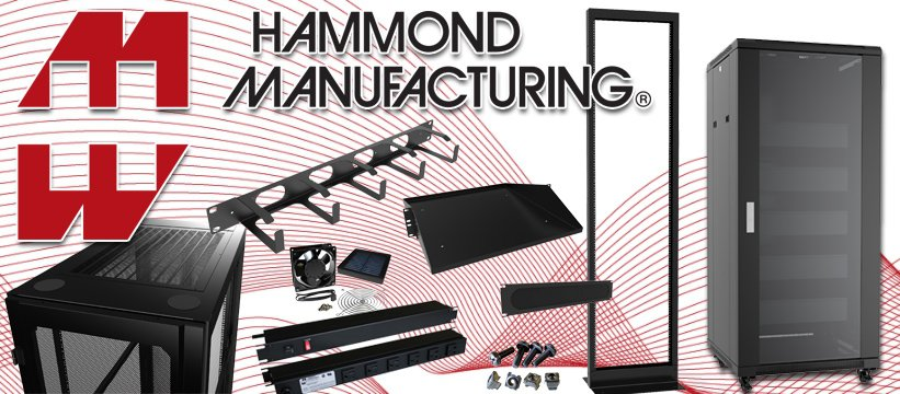 Hammond Manufacturing Racks and Cabinets for Network Systems