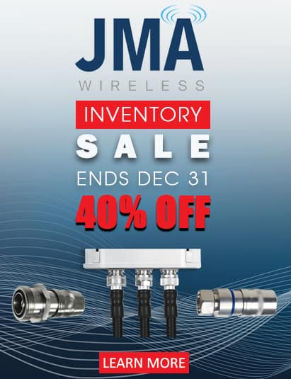 JMA Wireless inventory sale coaxial cable connectors, plenum jumpers, pig tails. telecom infrastructure equipment at Gap Wireless. UPL-4MT-12, UPL-4MP-12, UPL-4MP-12S, UPL-NF-78, UXP-4MP-12S, UXP-4MP-12, UXP-DM-158, UXP-DF-12