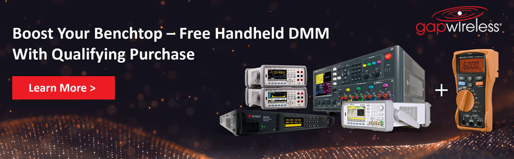Keysight boost your benchtop Boost Your Benchtop Promotion – for a limited time, claim a complimentary Keysight U1233A Handheld DMM with your purchase of selected Keysight digital multimeters, function/waveform generators, or power supply mainframes.