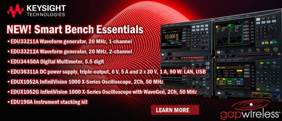 Keysight's New Smart Bench Essentials Series The Keysight Smart Bench Essentials Series is a revolutionary design solution for modern teaching labs and aspiring new product development electronics engineers. The solution allows you to test, analyze, and share results collaboratively, across the room or around the world. Whether you are teaching, learning, or working on a design, from a classroom or from home, you have full access to configure and test using your connected instruments. The hardware, leveraged from higher-performance instruments, is built into the Smart Bench Essentials Series. So you get the benefits of Keysight's measurement performance in a low-cost, compact package. We gave the user interface and display special treatment to make them straightforward, easy to operate, and consistent with our best-selling products. With the signature 7-inch color display, you can view more information clearly, even from a distance. The Smart Bench Essentials Series comes with KeysightCare support. You get access to technical experts from Keysight and our 24/7 knowledge center to help you get up to speed in the shortest amount of time.