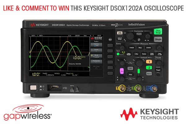 Like & Comment on this post before August 19th to enter to WIN A Keysight Oscilloscope! ($750 USD value)