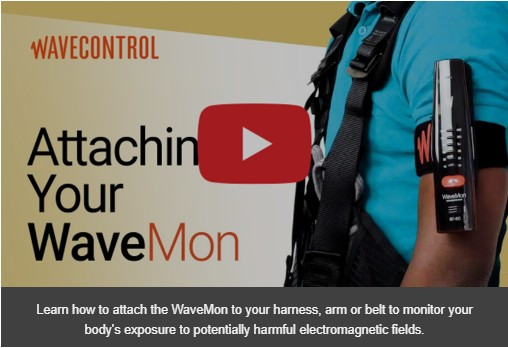 Attaching your WaveMon Personal RF Monitor