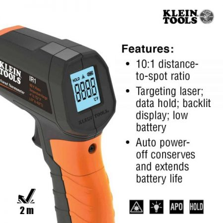 69292-5 Klein Tools Infrared Thermometer with Targeting Laser IR1