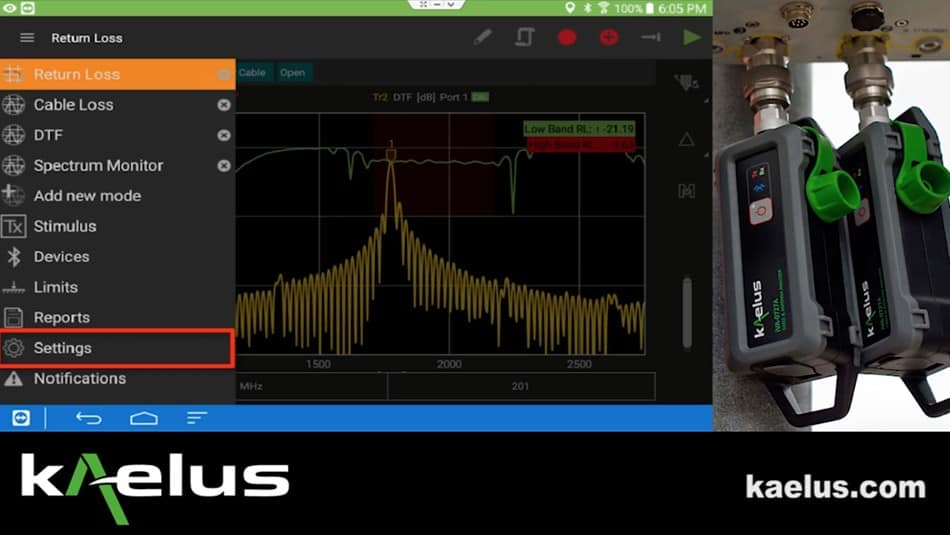 Kaelus Cable & Antenna Analyzers The iVA Series Cable & Antenna Analyzer is used for accurate measurement of VSWR/return loss and the location of of the VSWR /return loss in the RF infrastructure.