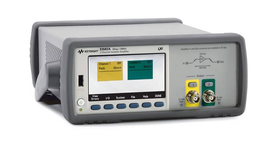 keysight 33502A Isolated Amplifier - 2 Channel, 50 Vpp available at gap wireless