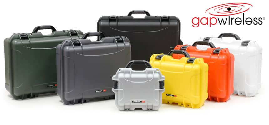 nanuk-case-family at gap wireless, small series, medium series, large series protective cases