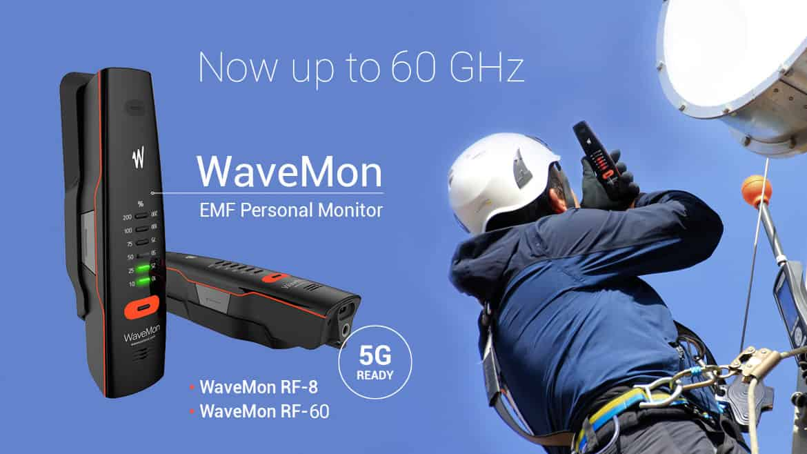 wavemon-rf-60 personal EMF monitor at Gap Wireless